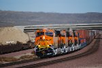 BNSF 6888 with Her Sisters BNSF 6885, BNSF 6887, and BNSF 6886 behind her Head west with the S LPC-LAC!!!!